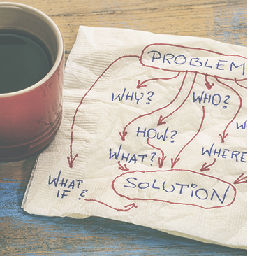 Problems and solutions illustration