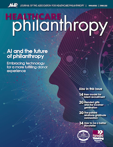 Healthcare Philanthropy Journal Spring 2020 Cover